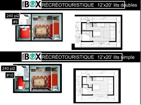 plan coolbox recréative 12 x 20